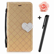 Samsung Galaxy J5 2017 Case,Galaxy J5 2017 Wallet Case,Galaxy J5 2017 Folio Cover,TOYYM Ultra Slim Lovely PU Leather Wallet Case [Kickstand] [Card Slots] [Love hearts Magnetic Closure] Protective Bookstyle Case Cover for Samsung Galaxy J5