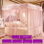 Double Household Stainless Steel Bracket Mosquito Net ( Colour : 32mm-purple , Size : 1.5M