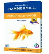 Hammermill Paper, Premium Multi-Purpose Paper Poly Wrap, 11kg, 8.5 x 11, Letter, 97 Bright, 500 Sheets / 1 Ream (105810) Made In The USA