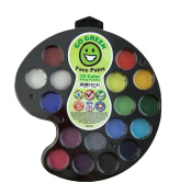 Face Paint Kit - Water-based No Lead 16 Colour Party Palette Highest Child Safety Rating Hypoallergenic, Makes Your Play dates Even Better, Made in the US