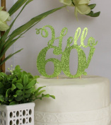 All About Details Lime Green Hello 60! Cake Topper