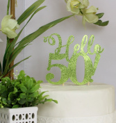 All About Details Lime Green Hello 50! Cake Topper