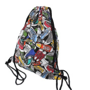 Da.Wa Canvas Shoulder Backpack Bag Drawstring Bag Backpacks Rucksack-Shoes