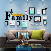 NAUY- Solid Wood Photo Wall Frame Wall Simple Modern Living Room Bedroom Hanging Photo Wall Frame Wall Combination