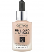 catrice hd liquid coverage foundation warm beige 040