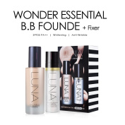 [LUNA] Wonder Essential BB Founde + Fixer [Set] (BB 40 ml + Fixer 50 ml) / Made in Korea (