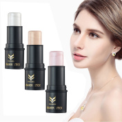 CCbeauty 3 Colours Face Highlighter Makeup Sticks Cream Shimmer Powder, 10ml