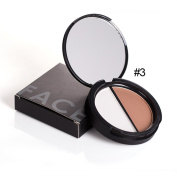 FOCALLURE Studio Baked Highlighter - double Colours Contour Palette Press Powder Shimmer Grooming Powder Professional Facil Concealer Makeup