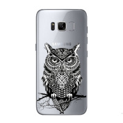 Galaxy S8 Case ,UCLL Clear Bottom Cute Owl Design SlimTPU Cover For Galaxy S8 With a screen protector
