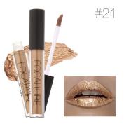 FOCALLURE New Glossy Lipstick Cosmetics Women Sexy Lips Metallic Lip Gloss