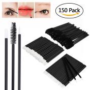 Molain 150PCS Lip Brushes Eyelash Mascara Eyebrow Brushes Eyeliner Disposable Makeup Applicator Tool Kits 3 x 50PCS