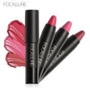 Yoyorule 3 Pcs Long Lasting Red Velvet Matte Colour Pencil Lipstick Crayon Makeup Set