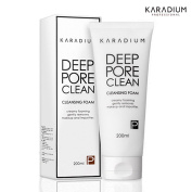 [KARADIUM] Deep Pore Clean Cleansing Foam 200ml, Creamy Foaming Gently Removes Makeup and Impurities