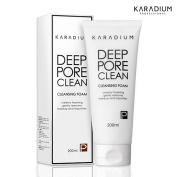 [KARADIUM] Deep Pore Clean Cleansing Foam 200ml, Creamy Foaming Gently Removes Makeup and Impurities