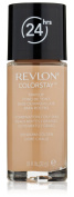 Revlon/Colorstay Foundation For Combination/Oily Skin (Warm Golden) 30ml + FREE Scunci Black Roller Pins, 18 Pcs