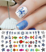Nautical Nail Art Waterslide Decals Set #3 - Salon Quality!
