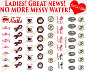 Marines MOM, USMC Nail Decals. Clear Vinyl PEEL and STICK (NOT Waterslide) nail decals/stickers set of 53 CV-MM-004-53