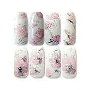 LQZ(TM)3D Flower Nail Stickers DIY Nail Decals for Women Flowers Nail Art Decoration