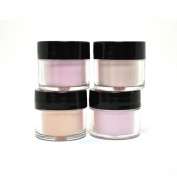 "4 ADORO DECORI NAIL ART ACRYLIC POWDER NUDE PEACH LIGHT colour "" MADE IN USA "" + FREE EARRING"