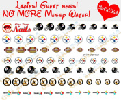 Pittsburgh Steelers Clear Vinyl PEEL and STICK (NOT Waterslide) nail decals/stickers V1