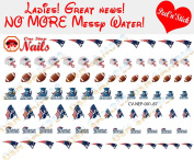 New England Patriots Clear Vinyl PEEL and STICK (NOT Waterslide) nail decals/stickers V1