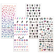 BMC By Bundle Monster 4 Sheet Rub On Nail Art Decal Sticker - Teen Drama