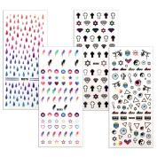BMC By Bundle Monster 4 Sheet Rub On Nail Art Decal Sticker - Teen Drama