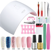 Sexy Mix Soak Off UV LED Gel Nail Polish Starter Kit with LED Nail Dryer Lamp