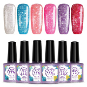 Sexy Mix Glitter Gel Nail Polish Soak Off UV Gels #S01
