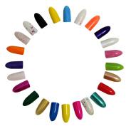 KurtzyTM 48 Pack Nail Polishes Varnishes 8ml For Manicures/Pedicures Fashionably Matt Glitter