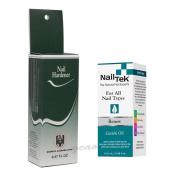 Quimica Alemana Nail Hardener 15ml + Nail Tek Renew Cuticle Oil 15ml