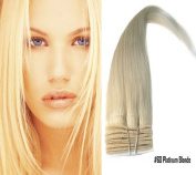 (#60 Platinum Blonde) - Full Head Human Remy Hair Weaves/weft - Silky Straight-Grade AAA, 100g