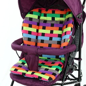 treasure-house Cushion Padding Liner Seat Pad Rainbow For Baby Stroller Pram