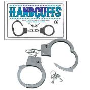 Kids Metal Double Lock Handcuffs With Keys Army Police Pretend