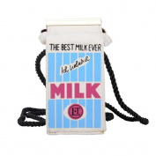 LUI SUI Women Girls Mini Milk Carton Canvas Crossbody Purses Bags