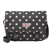 Cath Kidston buckle saddle bag button spot charcoal