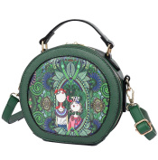 Yan Show Women's PU Forest Series Handbag Chinese Style Shoulder Bag Leisure Package