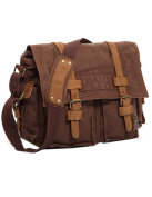 Menschwear Canvas Unisex Cross-body Bag Outdoor Casual Bag Coffee