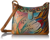 Anuschka Anna by Handpainted Small Shoulder Bag-Jungle Butterfly