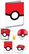 Pokemon Pokeball 9 Pocket Binder + 65 Sleeves + Deck Box + Poke Ball + Mini Figure