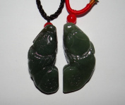4.6cm China Certified Nature Nephrite Hetian Green Jade Wealth Pixiu Pair Pendants
