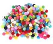 BESTCYC 200PCS 1.5cm Mixed Assorted Colours Pompoms for Craft Making and Hobby Supplies