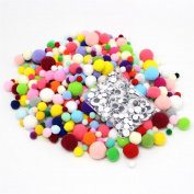1500pcs/lot Pom Pom Craft Round Wiggle Googly Eyes with Self-adhesive Assorted Sizes
