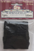 SPRINGFIELD Craft 1 PAIR of DOLL TIGHTS Fits SIZE 46cm DOLLS Colour BLACK