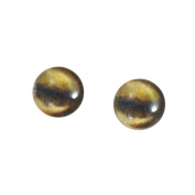 8mm Glass Antelope Eyes Animal Pair Realistic Taxidermy Sculptures or Jewellery Making Crafts Set of 2