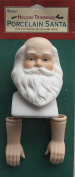 HOLIDAY TRIMMINGS Craft SET of 1 PORCELAIN Traditional SANTA Doll HEAD 7.6cm - 1.9cm and PAIR of HANDS Each 5.1cm - 1cm Long