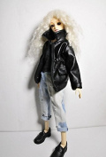 1/4 1/3 BJD SD Doll accessories Bjd clothes leather coat