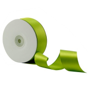 VATIN 2.5cm - 1.3cm Wide 50-Yards Long Double Face Solid Satin Ribbon Roll, Greenery