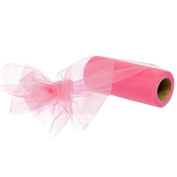 15cm Shocking Pink Nylon Tulle