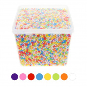 KeyZone Styrofoam Balls 0.1-0.4cm DIY for Household School Arts Crafts, Mixed Colour